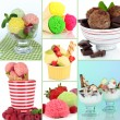 Collage of different sorts ice-cream — Stock Photo #43334937
