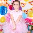 Pretty little girl celebrate her birthday — Stock Photo #43363221