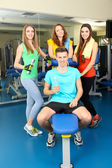 Group of people relaxing after training in gym  — Foto Stock