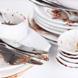 Dirty dishes close up — Stock Photo #43455119