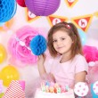 Girl celebrate her birthday — Stock Photo #43584677