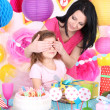 Girl celebrate her birthday — Stock Photo #43584681