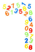 Colorful numbers, isolated on white — Stock Photo