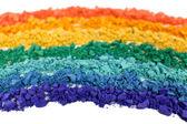 Rainbow crushed eyeshadow close up — Stock Photo