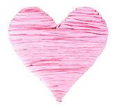 Decorative heart isolated on white — Stock Photo