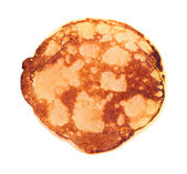 Fried pancake isolated on white — Stock Photo
