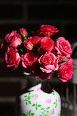Beautiful small pink roses, close up — Stock Photo