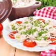 Meat dumplings - russian boiled pelmeni close up — Stock Photo #43864961