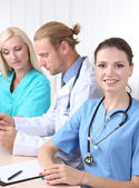 Medical team during meeting in office — Stock Photo