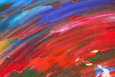 Oily paint brushstrokes close-up — Stock Photo