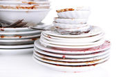 Dirty dishes close up — Stock Photo