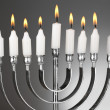 Hanukkah menorah with candles — Stock Photo #43874615