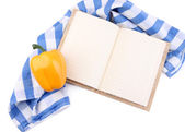 Blank recipe book isolated on white — Stock Photo