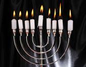 Chanoeka menorah met kaarsen — Stockfoto