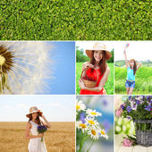 Collage of summer time — Stockfoto