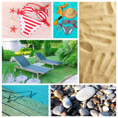 Collage of photos summer holiday — Stockfoto