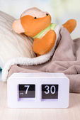 Sick bear in bed close-up — Stock Photo