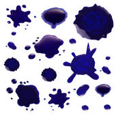 Ink blot collection isolated on white — Stock Photo