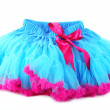 Blue and pink pettiskirt, isolated on white — Stock Photo #43993801