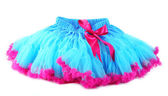 Blue and pink pettiskirt,  isolated on white — Stock Photo
