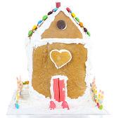 Beyaz izole kurabiye evi — Stok fotoğraf