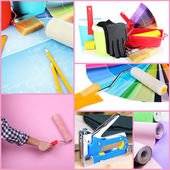 Collage of materials for repair — Stock Photo