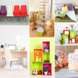 huis interieur collage — Stockfoto #44323837