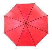 красный зонт, изолированные на белом фоне — Стоковое фото