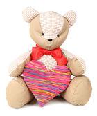 Bear toy isolated on white — Stock Photo