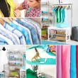 Collage of clothing designer — Stock Photo #44612345