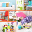 Home interior collage — Stockfoto