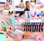 Manicure process in salon — Stock Photo