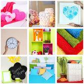 Home interior collage — Stock Photo