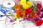 Working place of florist. Conceptual photo — Stock Photo