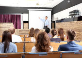 Meeting in conference hall — Foto Stock
