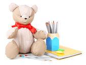 Bear toy isolated on white — Stockfoto