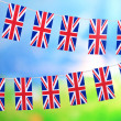 Garland of flags on bright background — Stock Photo #45052739
