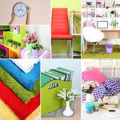 Home interior collage — Stockfoto