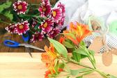 Working place of florist. Conceptual photo — ストック写真