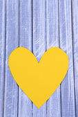 Paper hearts on wooden  background — Stockfoto
