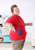 Large fitness man — Stock Photo