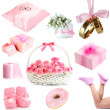 Collage of photos in light pink colors — Stock Photo #45232539