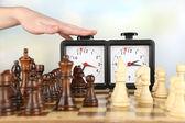 Woman playing chess, close up — Stock Photo