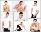 Snapshot of model. Handsome man — Stock Photo