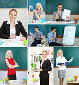 Collage of clever teachers close-up — Stock Photo