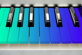 Colorful piano keyboard close-up — Stock Photo