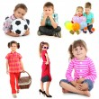 Collage of cute children isolated on white — Stock Photo #45903413