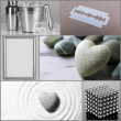 Collage of different objects in shades of gray — Stock Photo #45904053