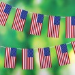 Garland of flags on bright background — Stock Photo #45904685