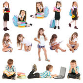 Collage of cute children — Stock Photo